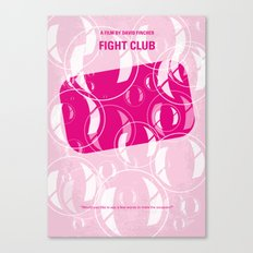 No027 My Fight Club minimal movie poster Canvas Print