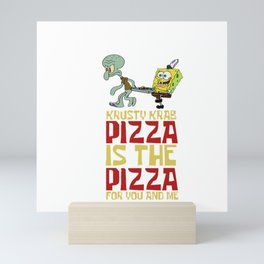 Krusty Krab Pizza Mini Art Print