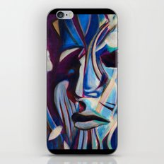 Blue Face iPhone & iPod Skin