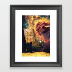 Comfortable Exception Framed Art Print