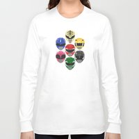 power rangers Long Sleeve T-shirts featuring Mighty Morphin Power Rangers by Some_Designs