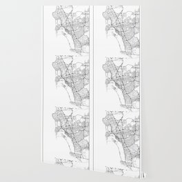 Minimal City Maps - Map Of San Diego, California, United States Wallpaper