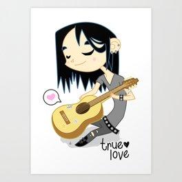 True Love is Metal Art Print