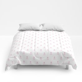 LIGHT PINK SKULLS ALL OVER PRINT LARGE Comforters