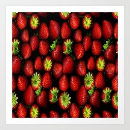Strawberry  , Strawberry  games, Strawberry  blanket,  Art Print