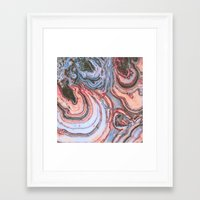agate Framed Art Prints featuring Agate by Jessilee Shipman