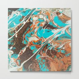 Natural Stones Series Turquoise Metal Print