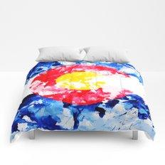 COLORADO PAINT FLAG Comforters
