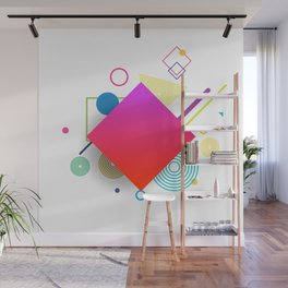 Displaced Geometry Wall Mural