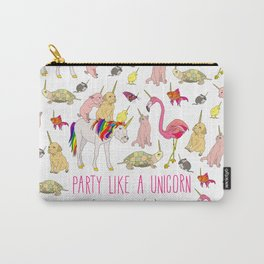 Party Like A Unicorn Carry-All Pouch