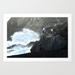Birds and Waves Art Print