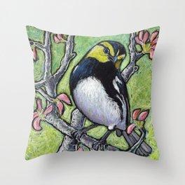 Golden Cheeked Warbler Throw Pillow
