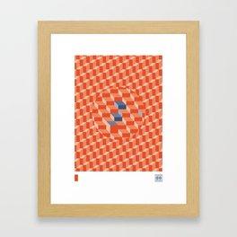 Stereo Sound - Red Framed Art Print