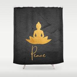 Gold Buddha 3 Shower Curtain