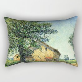 French Country Farm House at La Petite Mare by Francis Picabia Rectangular Pillow