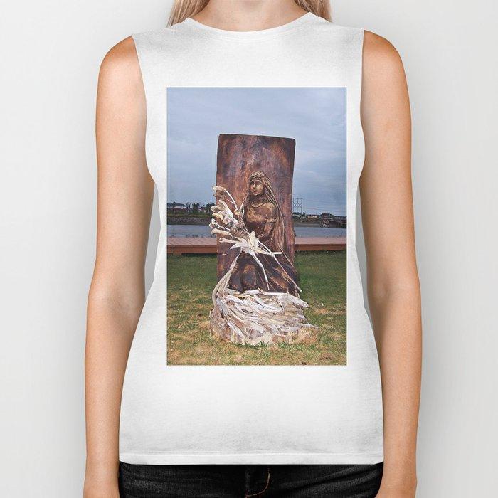 Driftwood Flower Lady Biker Tank