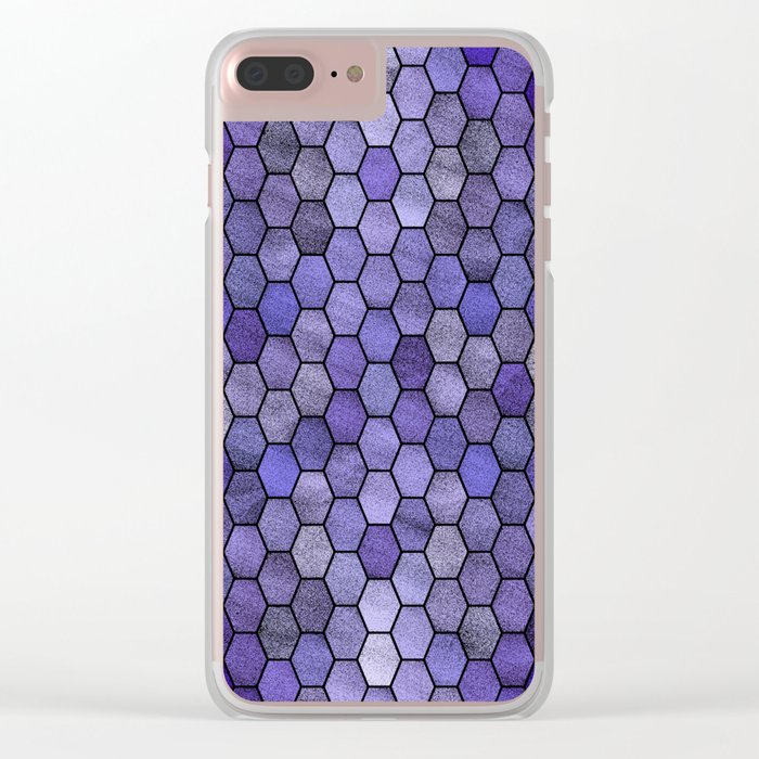 Glitter Tiles IV Clear iPhone Case