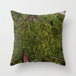 Mossy Plot Throw Pillow