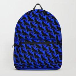 Black and Blue Bird Lover Design Pattern Backpack
