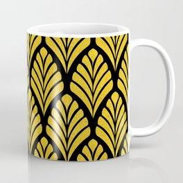 Tangiers Luxurious Black and Gold Art Deco Pattern Coffee Mug