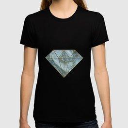 Precious Teal Blue Gemstone Agate Collage T-shirt
