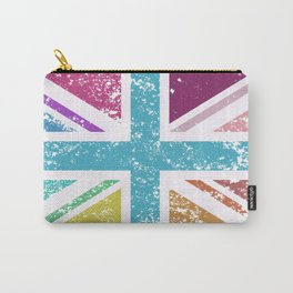Distressed Multicol Union Jack/Flag Carry-All Pouch