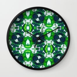 Geo Leaves Wall Clock