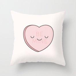 Pink Sweet Candy Heart Throw Pillow