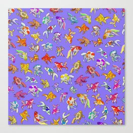 Aquarium Ultraviolet Canvas Print
