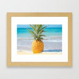 Aloha Pineapple Beach Kanahā Maui Hawaii Framed Art Print