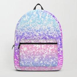 Faux Glitter Pastel Rainbow Gradient  Backpack