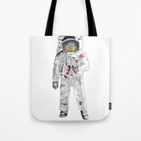 astronaut Tote Bags featuring Astronaut by James White