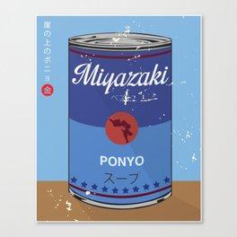 Ponyo - Miyazaki - Special Soup Series  Canvas Print