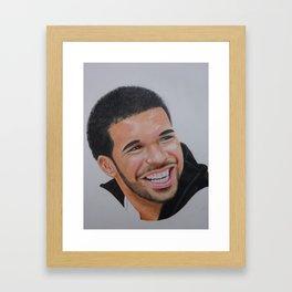 Drake portrait drawing Framed Art Print