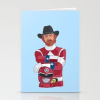 power ranger Stationery Cards featuring Walker Texas Power Ranger by Emily Niland