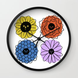 Flower Faces Wall Clock