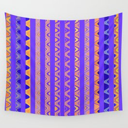 Contemporary African Style Abstract Stripes Wall Tapestry