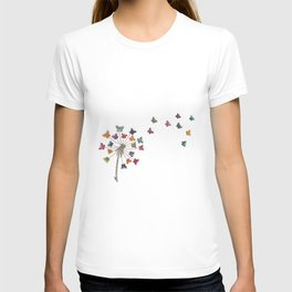 Dandelion and butterflies T-shirt