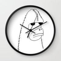 sasquatch Wall Clocks featuring Sasquatch by Werewhal
