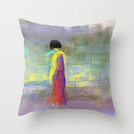 Her Afternoon Walk Throw Pillow