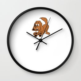 Best Dog Dad Father's Day Wall Clock