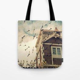 Strange House Tote Bag