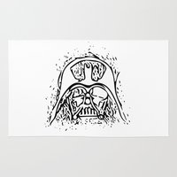vader Area & Throw Rugs featuring Vader by Julia Bruggeman