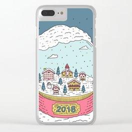 Snow globe Clear iPhone Case