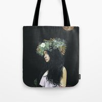 serenity Tote Bags featuring Serenity by Melissa Hartley