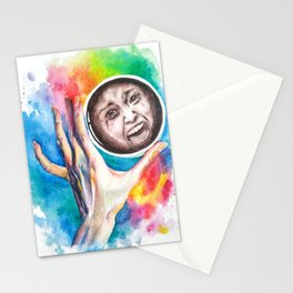 Reflection in a glass of coffee Stationery Cards