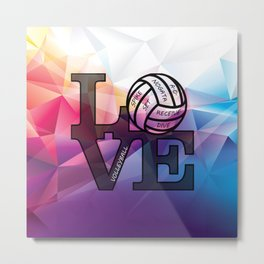 For the Love of Volleyball Metal Print