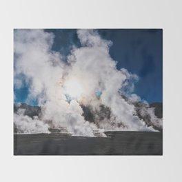 Tatio Geysers in the Atacama Desert, Chile Throw Blanket