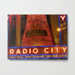 Radio City Music Hall, NYC Metal Print