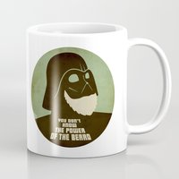 nfl Mugs featuring Beard Vader by Beardy Graphics